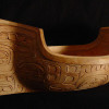 Carved Head Canoe bowl