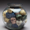 Bad Candy, candy jar full of colored miniature skulls