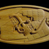Two Crows and Snake Wood Carving by David Franklin