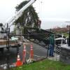 Installing the gate at Kayu Kayu Ac Park, Shoreline, WA