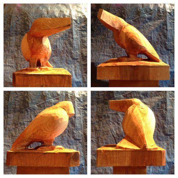 step 6 Raven Sculpture