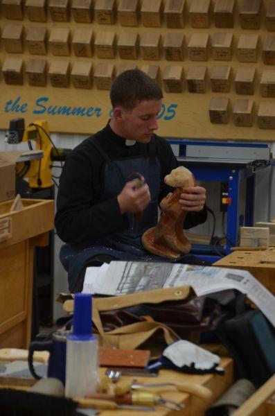 Brother Mark hard at work