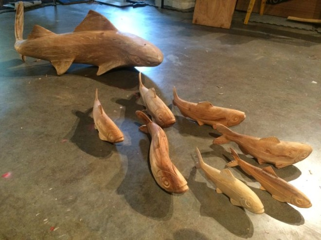 Carved Fish and Shark