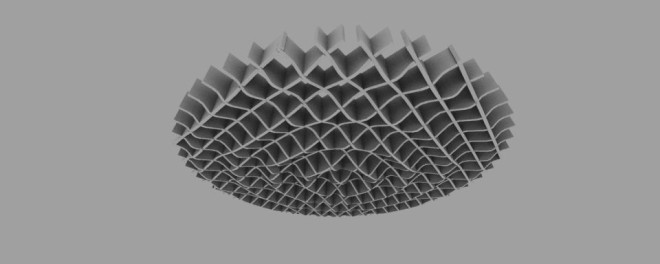 Ripple support grid virtual model