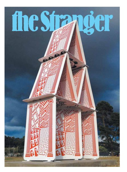 The Cultural House of Cards on the Cover of Seattle's The Stranger