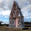 view of the face side of the Cultural House of Cards at the Green Hill School Chehalis Washington
