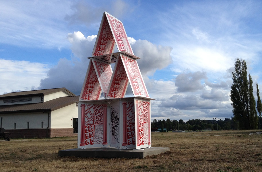 Cultural House of Cards sculpture David Franklin