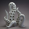 Set of white glazed Tentacles
