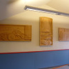 The Forest, River and Farm panels as installed at the Upper Willapa High and Junior High School In Menlo Washington