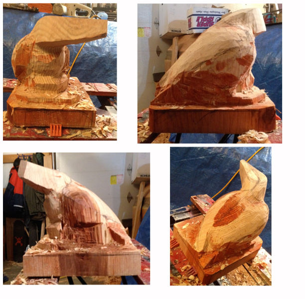 step 4 Raven sculpture
