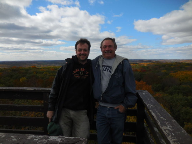 Dave Stark and I at the Parnell Tower