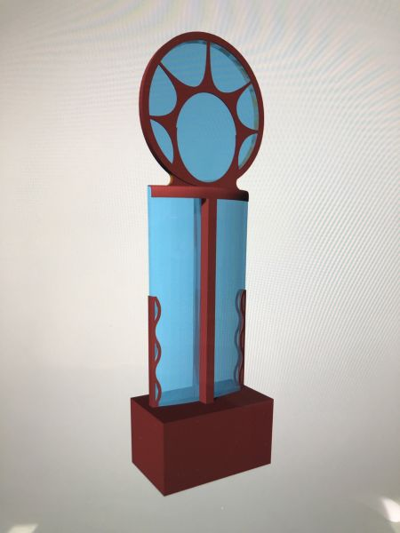 Basic digital model of the Weaver's Welcome sculpture