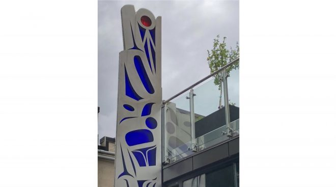 Tlingit Dance Staff- Dianne Apartments- Portland- Preston singletary